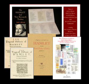 "An array of five covers of Howland Research Publications, representing the section of titles dedicated to ""Textual and Literary Researchers and Educators"""